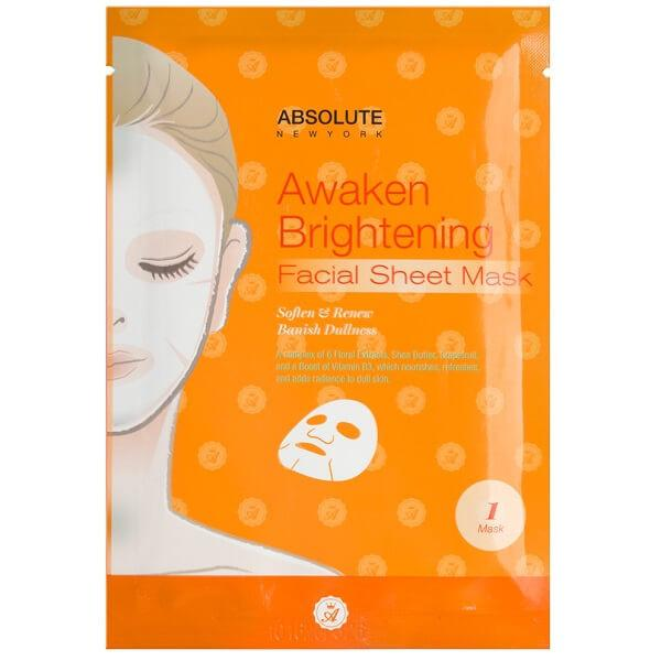 Absolute New York Awaken Brightening Facial Sheet Mask